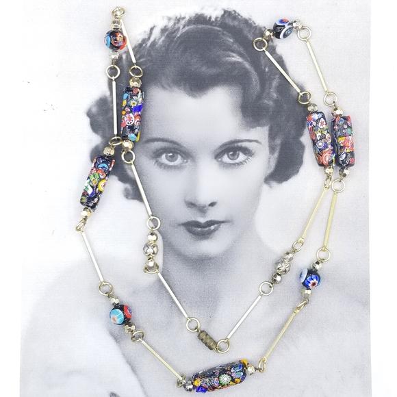 Murano Pendant,Pearl Necklace,Garnet Necklace,Garnet Jewelry,Murano Necklace Doble Necklace,Venetion Italian Jewelry,Murano Glass Pendant